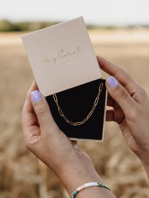 Big Paperclip Chain Necklace Gold