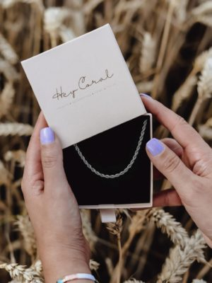 Rope Chain Necklace Silber