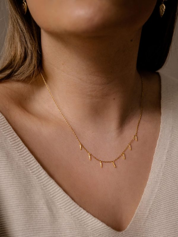 Spike Necklace Gold
