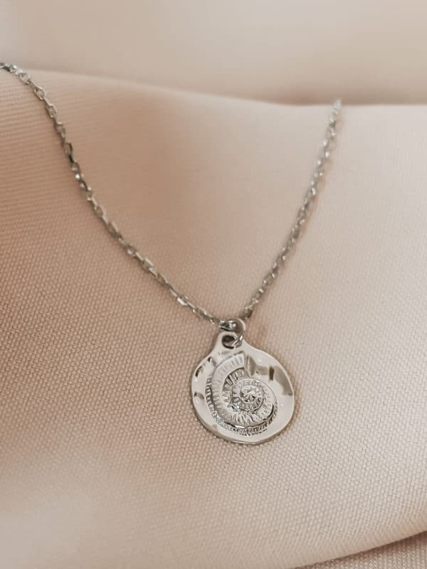 """Coin Necklace """"Antique Shell"""" Silber"""