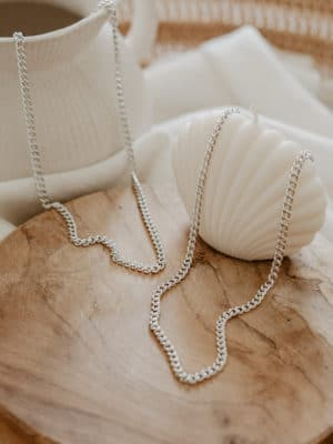 Cuban Chain Necklace Silber
