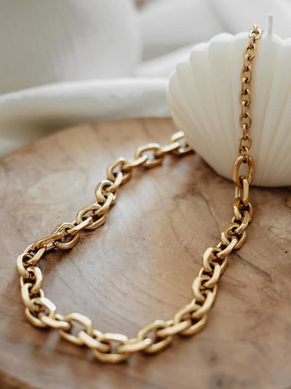 Rolo Chain Necklace Gold