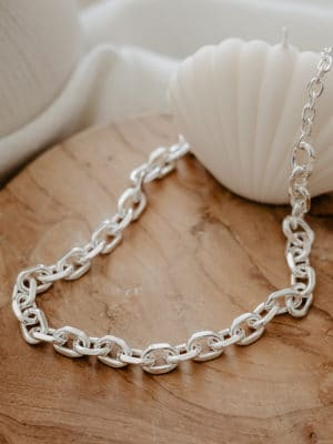 Rolo Chain Necklace Silber